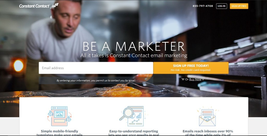 Constant Contact email marketing services. Be a marketer and sign up for free!