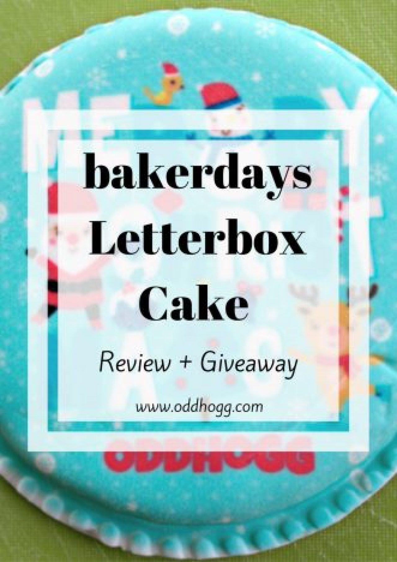 bakerdays Letterbox Cake Review + Giveaway   What more could you want than a cake that arrives through the letter box? Perfect for a birthday or celebration - but what is it really like? Click on the post to find out! http://oddhogg.com