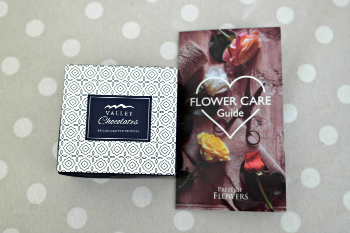 Prestige Flowers Review | Chocolates and Care Instructions http://oddhogg.com
