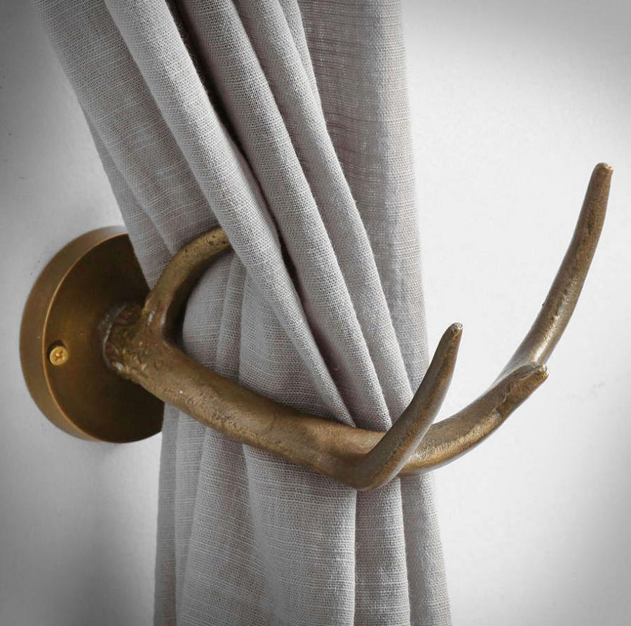 Antler Curtain Tiebacks