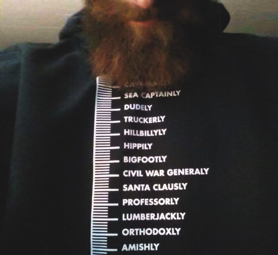 Beard Measuring T Shirt