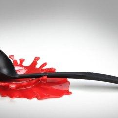 Kitchen Counter Single Handle Faucet Repair Blood Splatter Cutting Board