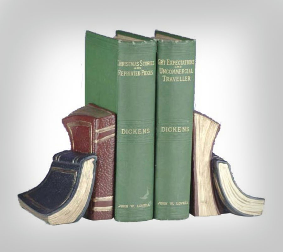 Book Shaped Book Ends