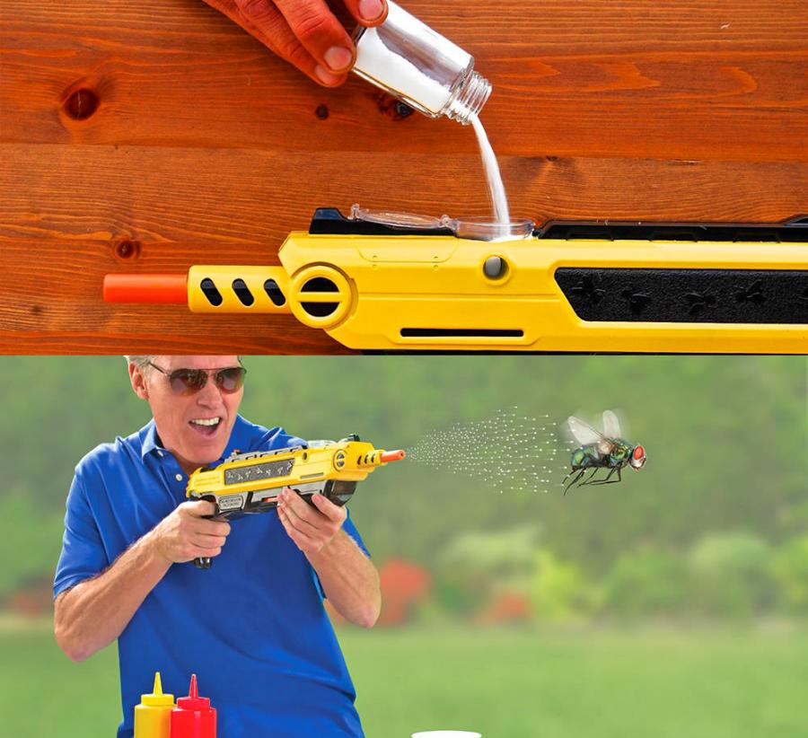 BugaSalt Salt Gun Shoots Salt Pellets To Combat Bugs and