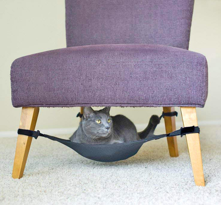 cat hammock under chair what kind of fabric for dining room chairs crib an enlarge image