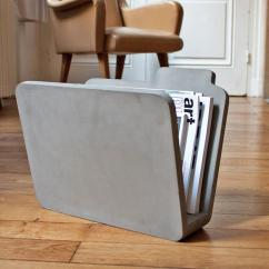 Concrete Kitchen Floor To Ceiling Pantry Manilla Folder Shaped Magazine Holder