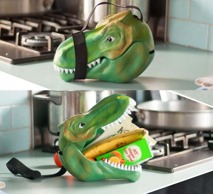 geeky kitchen gadgets cabinet direct from factory dinosaur head lunch box