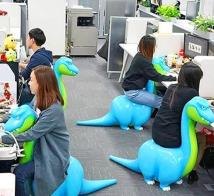 Quirky Dinosaur Shaped Office Chairs