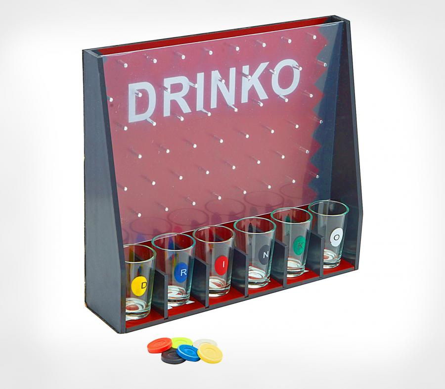 geeky kitchen gadgets commercial tile drinko is a plinko-like drinking game with shot glasses