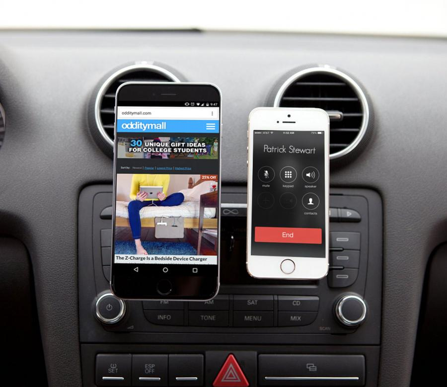 ebay kitchen modern outdoor duomount lets you mount two phones using your cars cd slot