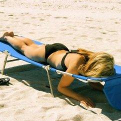 Portable Beach Chair Lounge Accessories Face Down