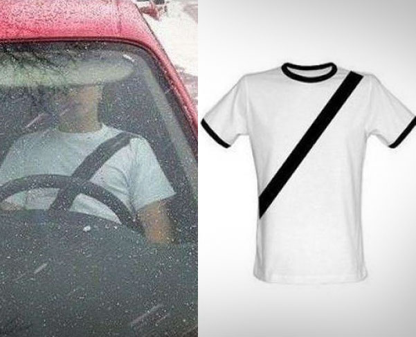 This Fake SeatBelt TShirt Helps Deter SeatBelt Tickets