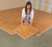 Faux Hardwood Floor Interlocking Foam Tiles (25-Pack)