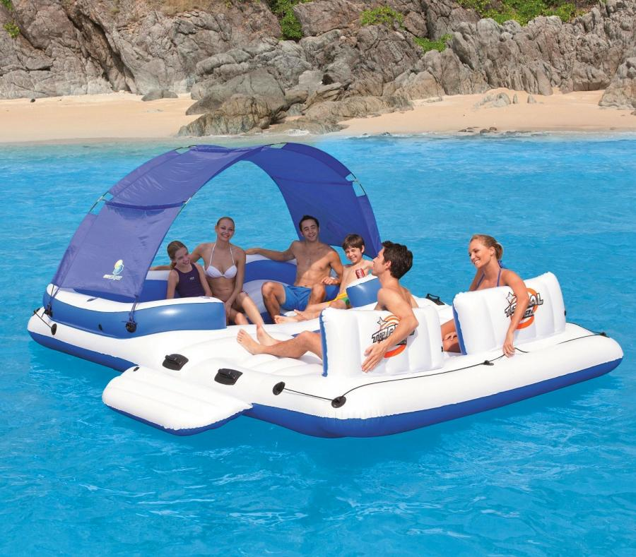 Floating Island Inflatable Lake Lounger
