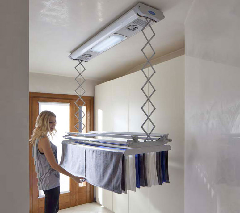 Foxydry Electric Clothesline Raise and Lower Drying Clothes To Save Space