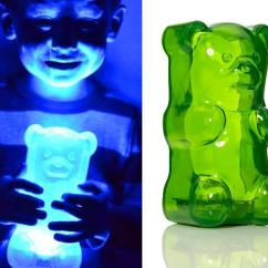 Child Kitchen Set Rustic Cabinet Giant Gummy Bear Night Light