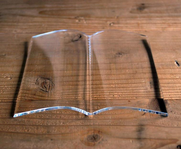 Glass Book Page Holder