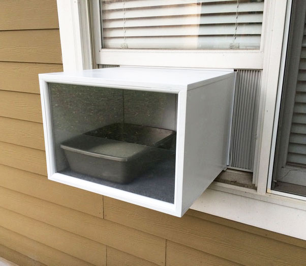 KATIO Cat Litter Box That Sits In Your Window Like An AC Unit