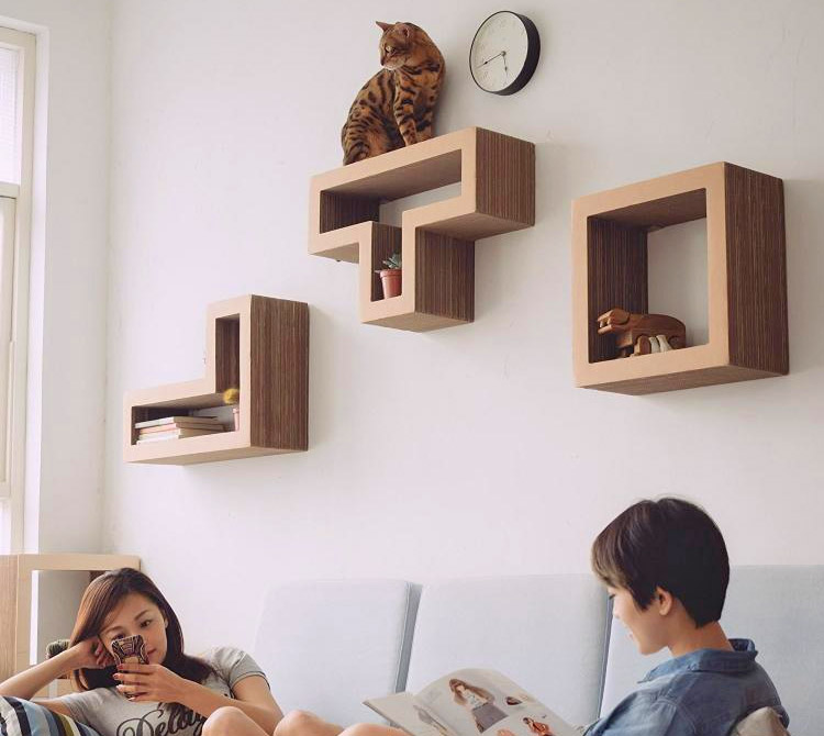 Katris Modular Cat Shelves Are Tetris Blocks For Your