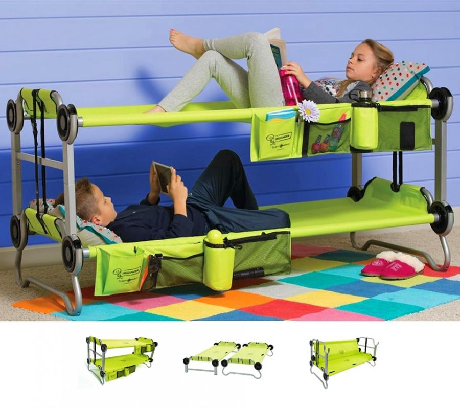 KidOBunk Portable Bunk Beds For Camping Also Converts
