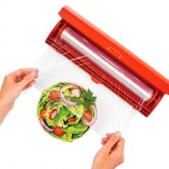 Kitchen Pull Out Trash Can How To Make A Island Kuhn Rikon Fast Wrap - The Easiest Way Use Plastic