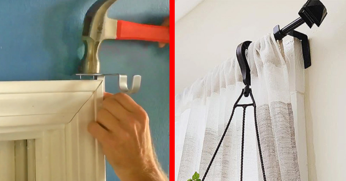 curtain rod holders install in just seconds