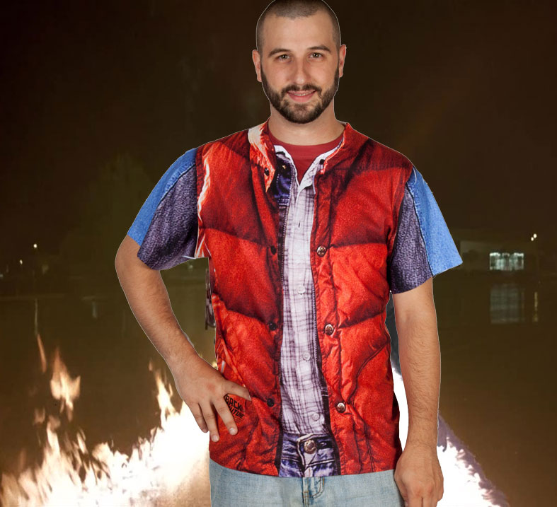 Marty McFly Vest Costume TShirt