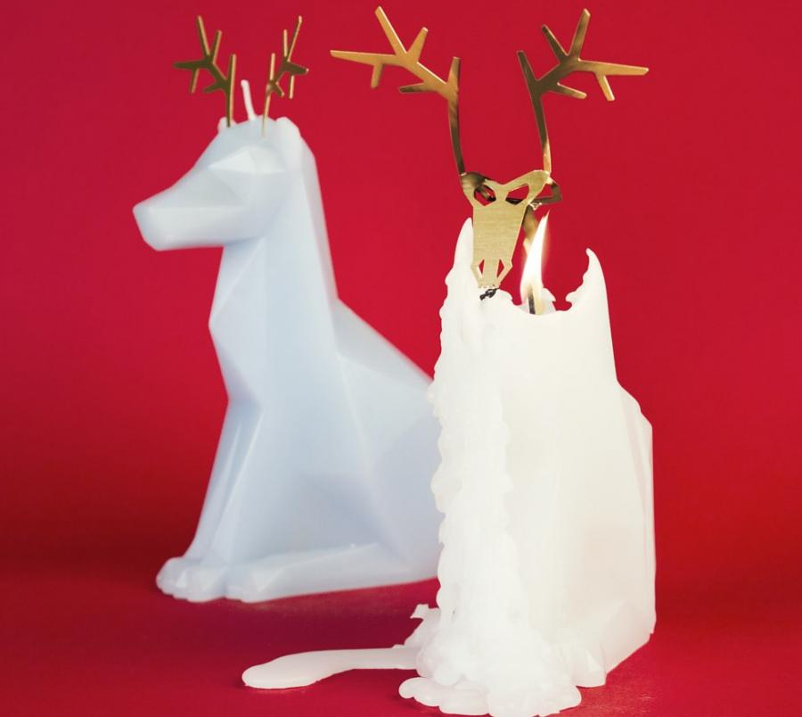 Melting Reindeer Candles Reveal Reindeer Skeleton