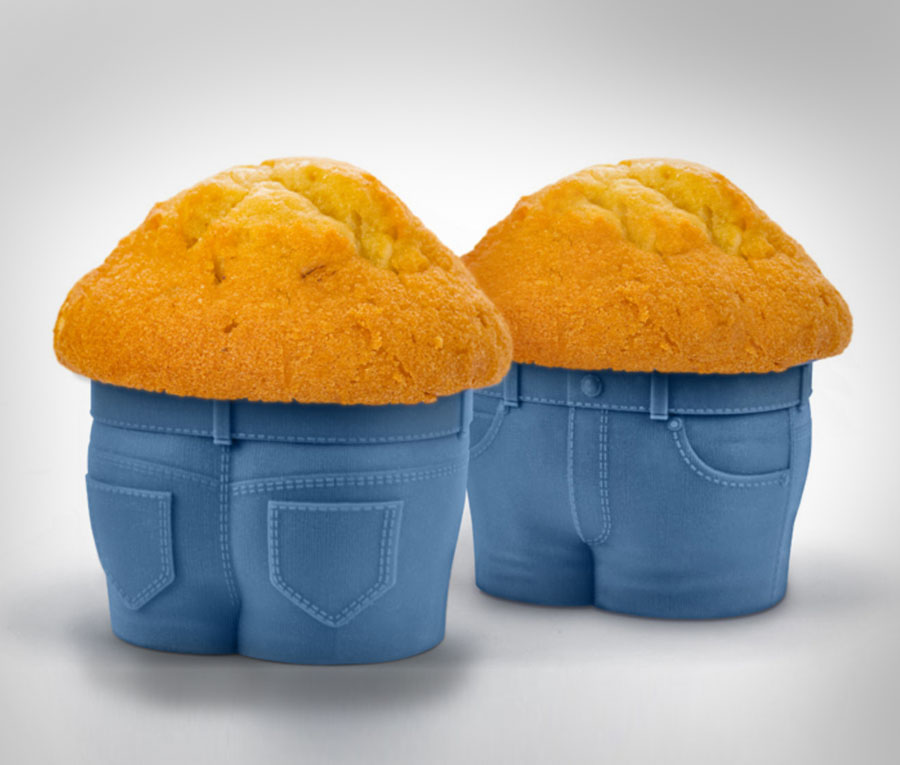 amazing kitchen gadgets design your muffin top jeans molds (set of 4)