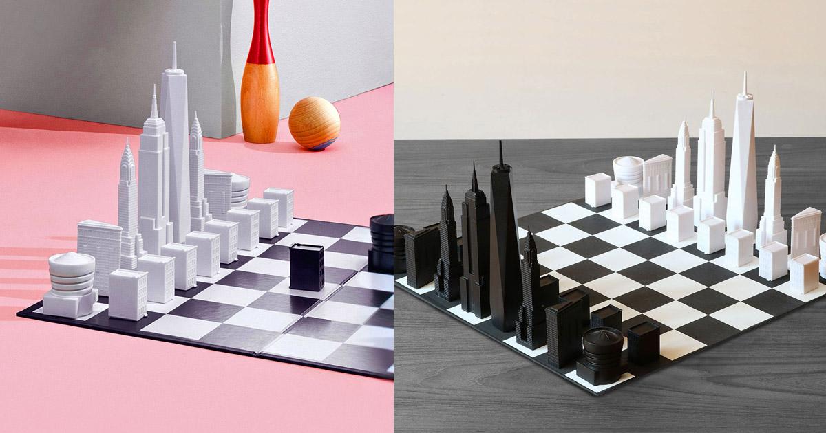 New York City Skyline Chess Set