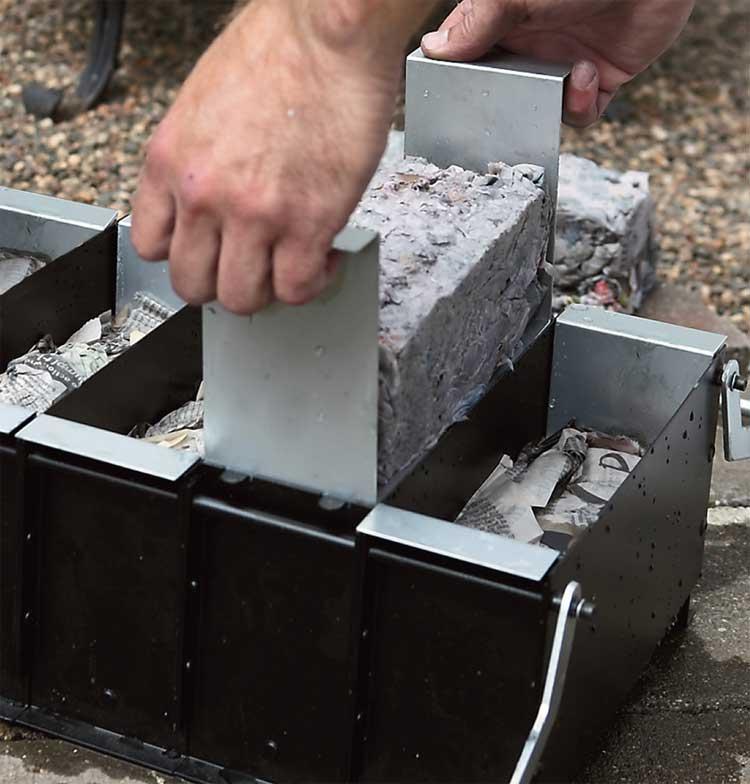 Paper Fire Starter Log Maker