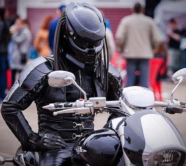 Looks Woman Motorcycle