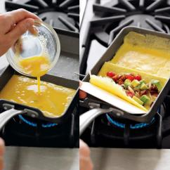 Kitchen Spatula Moen Faucet Hands Free Rolled Omelette Making Pan