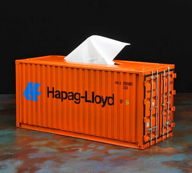 Mini Shipping Container Tissue Box Thats Made From Actual