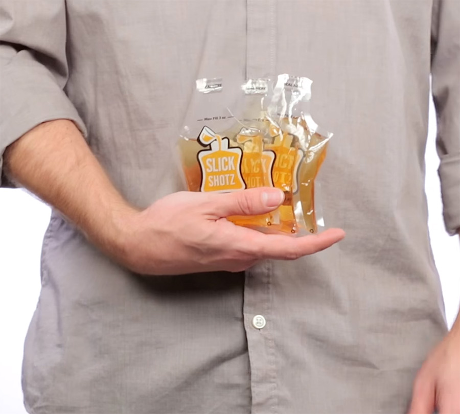 Slick Shotz Sealable Plastic Flasks For Easy Alcohol