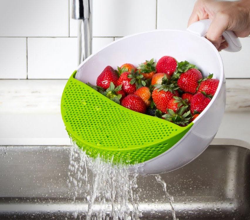 Soak And Strain Food Washing Bowl