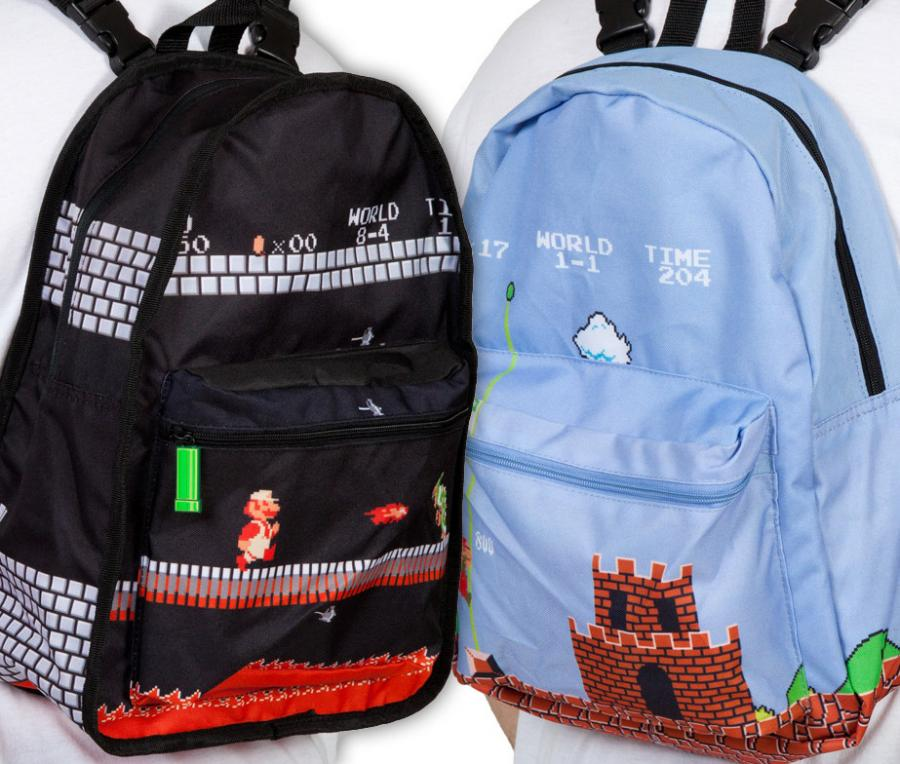 Super Mario Bros Reversible Backpack Turns From Daylight