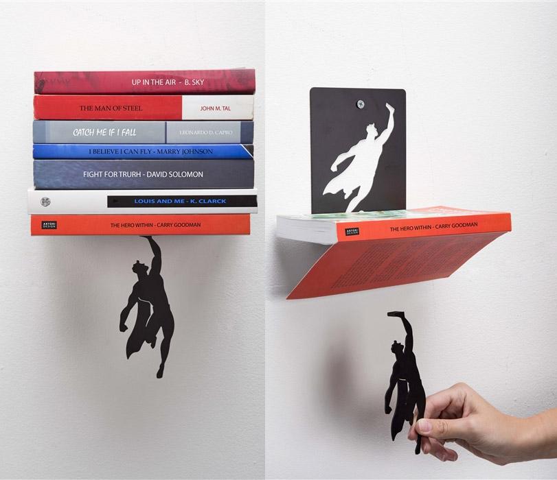 SuperShelf A Book Shelf That Makes It Look Like Superman
