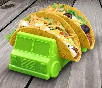 Taco Truck Taco Holder Plate (Set of 2)