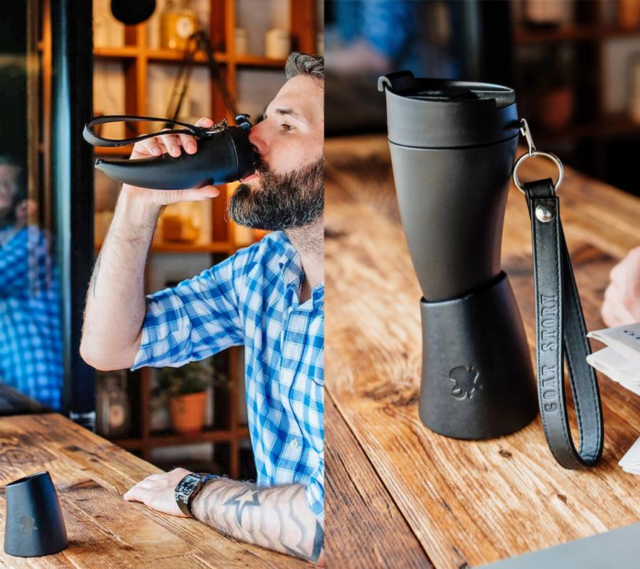 The Goat Story Coffee Mug Is a Horn Shaped Mug That Comes