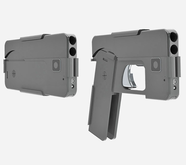 The Ideal Conceal Hand Gun Collapses Down To The Shape Of