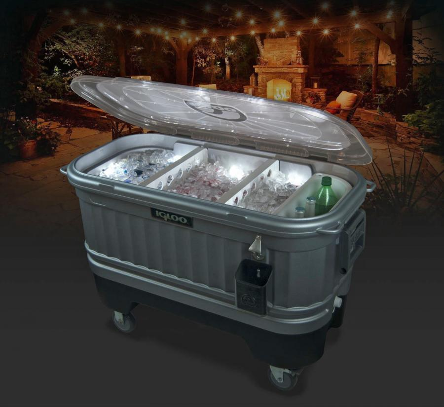 The Igloo Party Bar Cooler Is Perfect For a Backyard Party