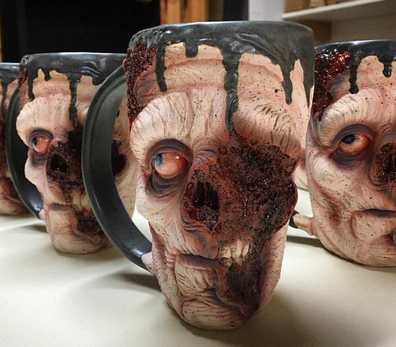 kitchen stuff for sale non skid rugs the slow joe zombie mugs are amazingly realistic ...