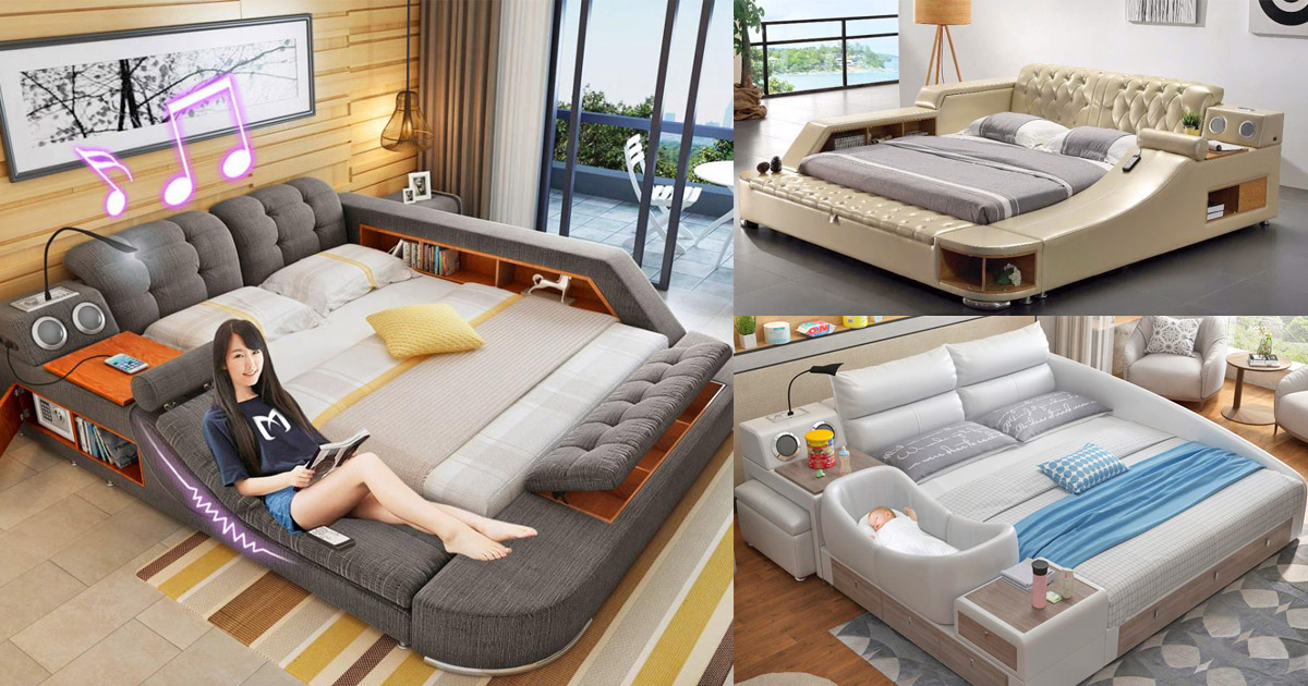 the ultimate bed with integrated