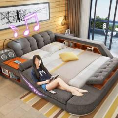 Sofa Armrest Drink Holder Baltwood Queen Sleeper Reviews The Ultimate Bed With Integrated Massage Chair, Speakers ...
