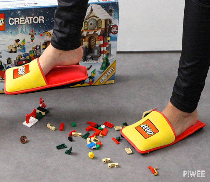 These Lego Slippers Ensure Youll Never Injure Your Feet
