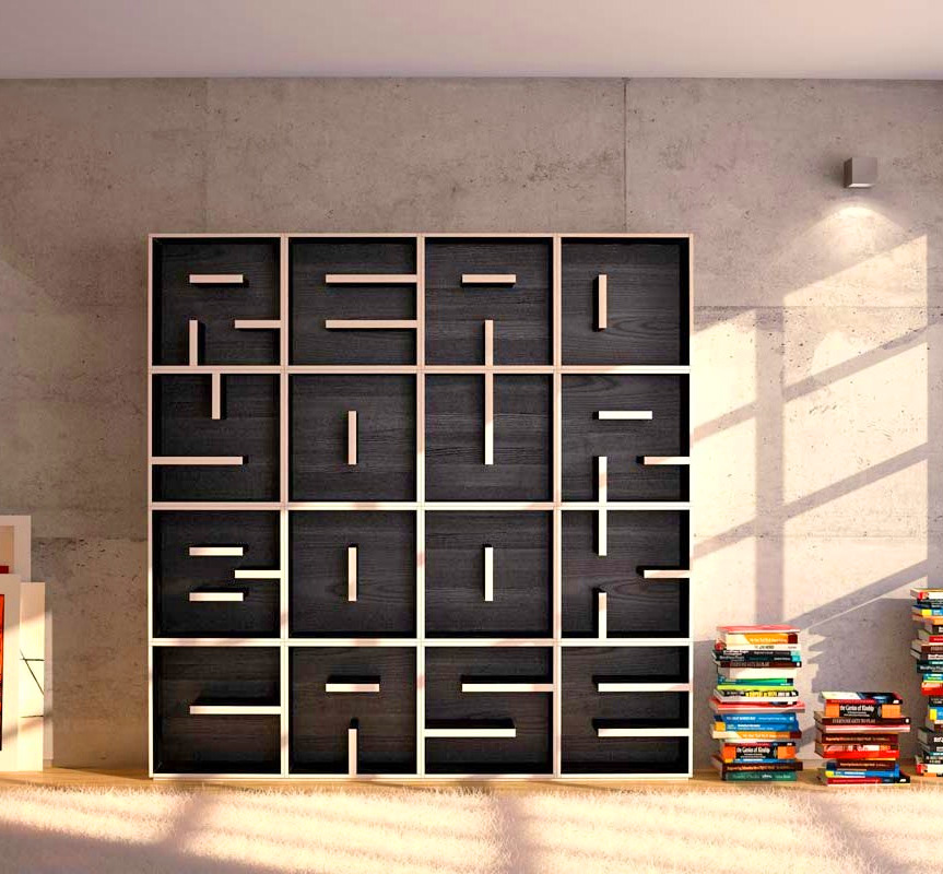 These Letter Shaped Bookcases Let You Spell Anything You Want