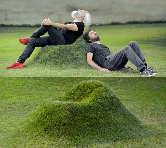 These Natural Grass Chairs Are Made Into Your Lawn Using