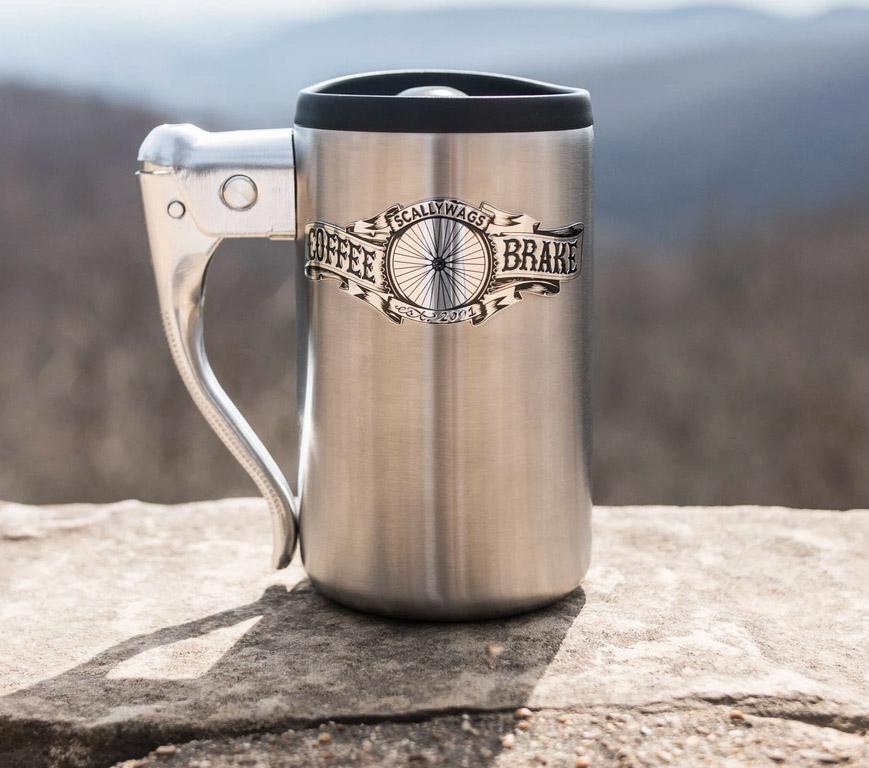 The Coffee Brake Mug Is Made From a Bicycle Brake Handle