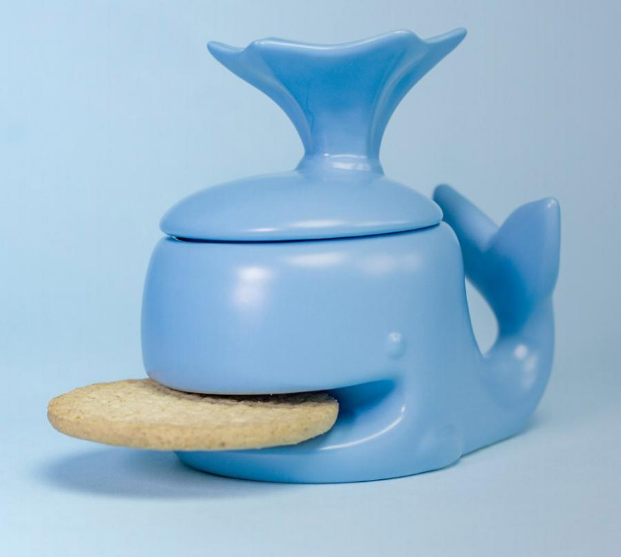kitchen gadgets chairs this cute whale mug holds your cookie for you